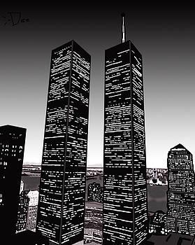 World Trade Center in Black and White by Danielle Scott