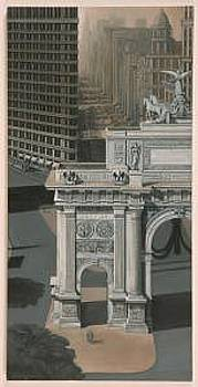 World War I Memorial Arch At Madison Square by Joseph Greenawalt
