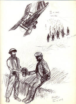 World War One sketch No. 2 by Andrew Gillette