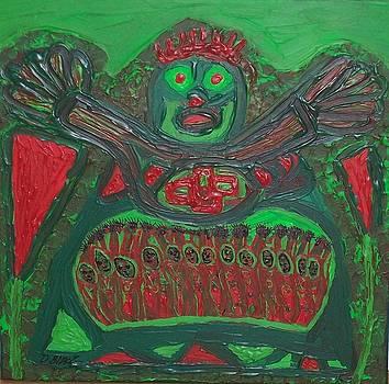 Worship of a green demigod by Darrell Black