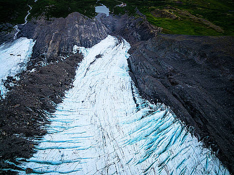 Worthington Glacier from Above by Kyle Lavey