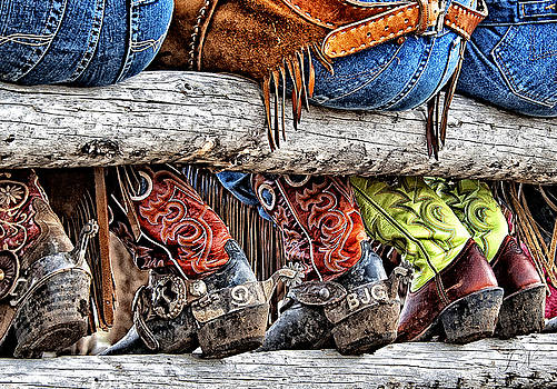Wrangler Boots Butts and Spurs by Judy Neill