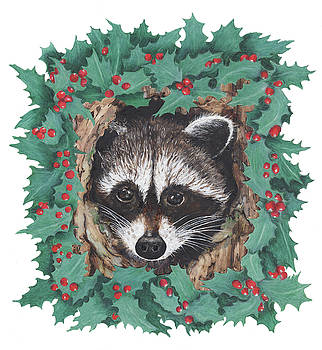 Wreathed Wraccoon by Marla Saville