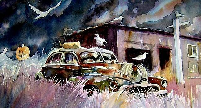 Wreck at the Sea Gull Shack by Ron  Morrison