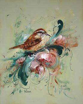 Wren and Rosemaling by David Jansen