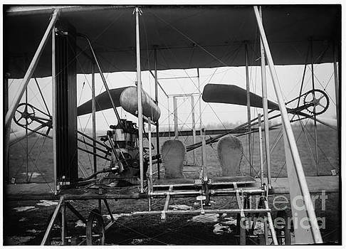 R Muirhead Art - Wright brothers Close up view of airplane including the pilot and passenger seats