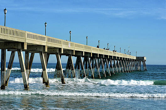 Wrightsville Beach Fishing Pier Side View by Sandi OReilly