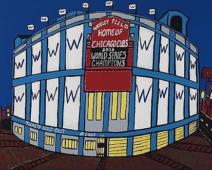 Wrigley Field Home Of Chicago Cubs World Series Champions by Jonathon Hansen