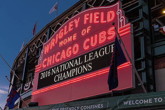 Steve Gadomski - Wrigley Field Marquee Cubs National League Champs 2016