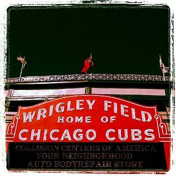 Wrigley Field...i Got Off The Bus Just by Tammy Winand