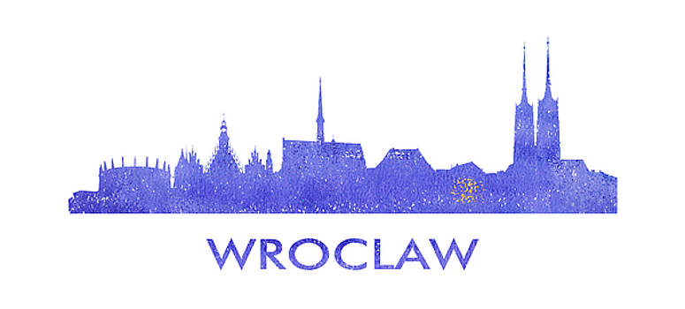 Vyacheslav Isaev - Wroclaw city purple skyline