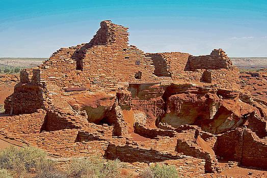 Wupatki pueblo by Robert Rodda