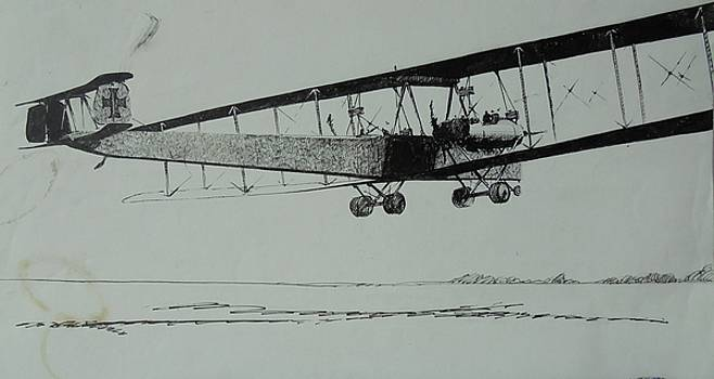 WW1 bomber by Mike Jeffries