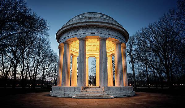 WW1 Monument at Dusk by Ryan Wyckoff