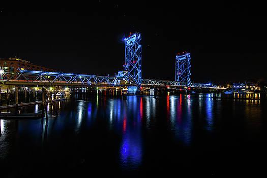WWI Memorial Bridge Blue by Tim Kirchoff