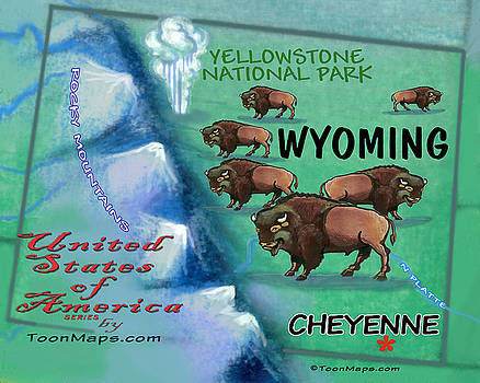 Wyoming Fun MAp by Kevin Middleton