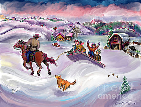 Wyoming Ranch Fun in the Snow by Dawn Senior-Trask