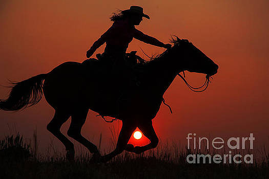 Wyoming Sunset by Terri Cage