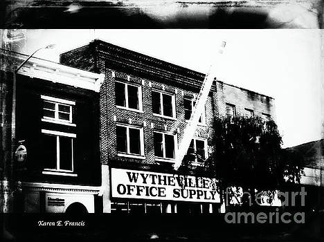 Wytheville Office Supply BW by Karen Francis