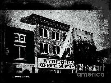 Wytheville Office Supply BW Smudge by Karen Francis