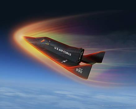 X-20 Dyna-Soar Reentry by Aldo Spadoni