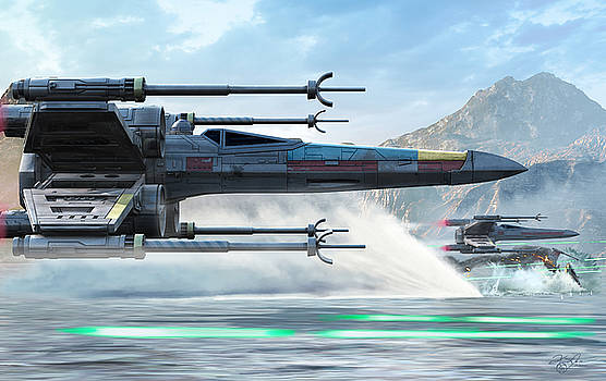 X-Wing Full Throttle  by Kurt Miller
