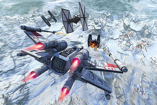 X-Wing Glacier by Kurt Miller