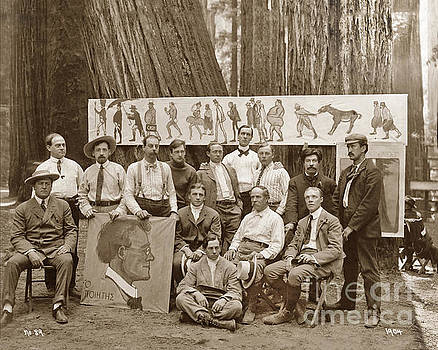 California Views Mr Pat Hathaway Archives - Xavier Martinez 13 Men sitting and standing in camp, at the Bohemian Grove 1904