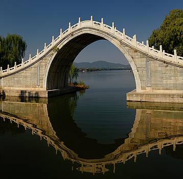 Reimar Gaertner - Xiuyi Bridge at south end of Kunming Lake and Pavilion of Brilli