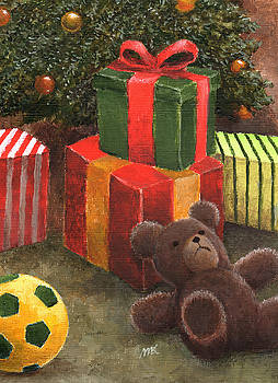 Xmas Presents Under The Tree by Michael Abcede