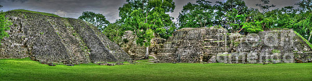Xunantunich archaeological site panorama by David Zanzinger