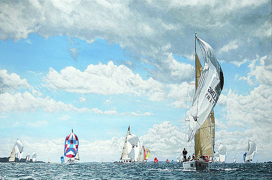 Yachts Racing at Cowes Week, Isle of Wight, 2010 by Mark Woollacott