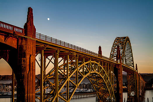 Yaquina Bay Bridge, Newport, Or by David Rigg