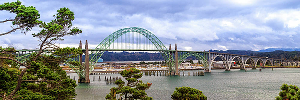 Yaquina Bay Bridge Panorama by James Eddy