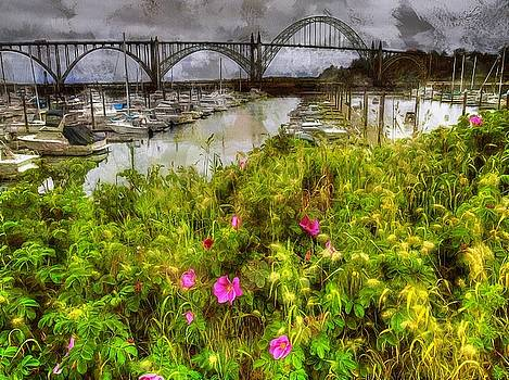 Yaquina Bay Roses by Thom Zehrfeld