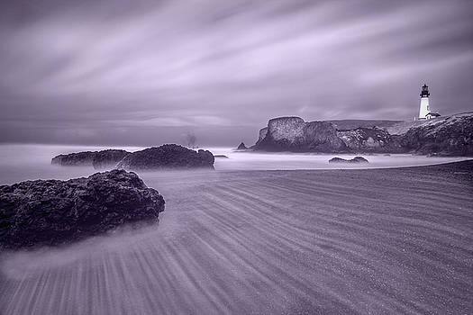 Yaquina Lighthouse Infrared by William Lee