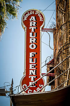 Ybor City Arturo Fuente Cigar Sign by Toni Thomas