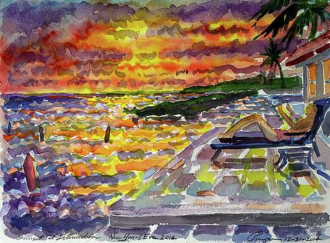 Year End Sunset at Islamarada by Ralph Papa