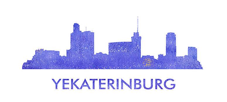 Vyacheslav Isaev - Yekaterinburg city purple skyline
