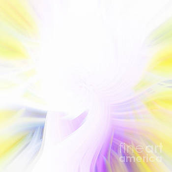 Yellow and Purple Abstract by Phill Petrovic