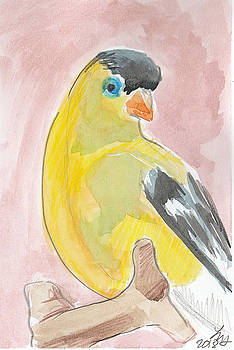 Yellow bird 56 by Loretta Nash