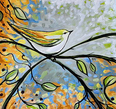 Elizabeth Robinette Tyndall - Yellow Bird Among Sage Twigs