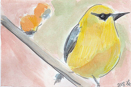 Yellow bird by Loretta Nash