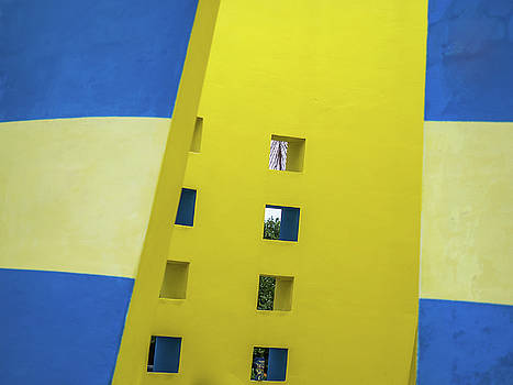 Yellow Blue Abstract by Robin Zygelman