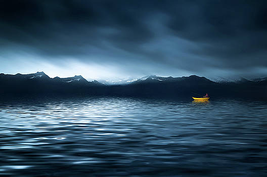 Yellow Boat by Bess Hamiti