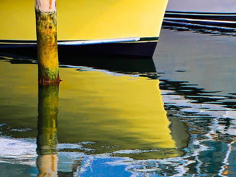 Yellow Boat Reflection by George Salter