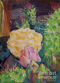 Yellow Cactus Flower by Rob Corsetti