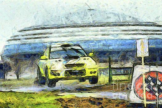 Yellow car jump by Magomed Magomedagaev