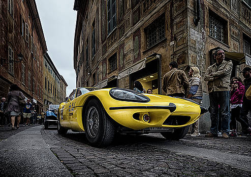 Yellow car by Livio Ferrari