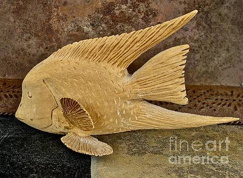 Yellow Cedar Angel FIsh by Bruce Peterson